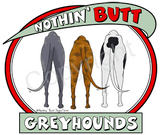Nothin' Butt White Tshirt (70+ Breeds Available) German Shepherd - Labrador Section