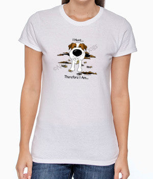 I Hunt Wire Haired Jack Russell Terrier Women's Tshirt