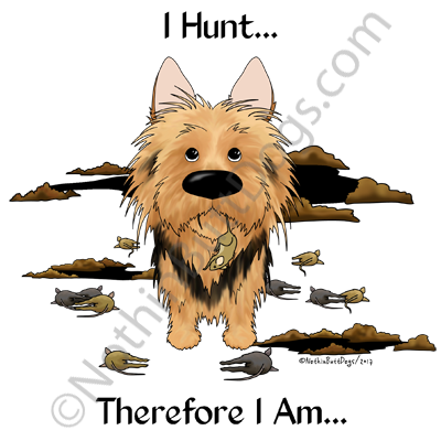 I Hunt Australian Terrier  Light Colored T-shirts