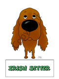 Dog Sticker (Big Nose) - (40+ Dog Breeds Available)