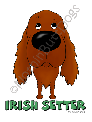 Big Nose Irish Setter Light Colored T-shirts