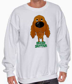big nose irish setter sweatshirt