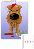 Irish Terrier Santa's Cookies Greeting Cards