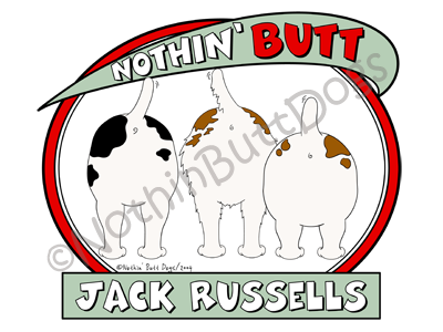 Nothin' Butt Jack Russells Light Colored T-shirts