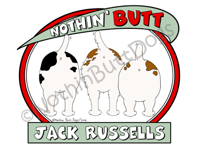 Nothin' Butt Jack Russells Dark Colored T-shirts