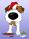 Jack Russell Terrier Santa's Cookies Greeting Cards