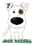 Big Nose Jack Russell Terrier (Short) Dark Colored T-shirts