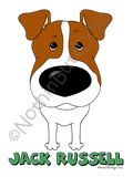 Big Nose Jack Russell Terrier (Smooth) Light Colored T-shirts