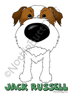 Big Nose Jack Russell Terrier (Wire) Dark Colored T-shirts