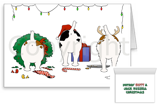 Nothin' Butt A Jack Russell Terrier Christmas Greeting Cards