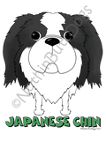 Big Nose Japanese Chin Light Colored T-shirts