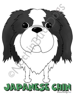 Big Nose Japanese Chin Dark Colored T-shirts