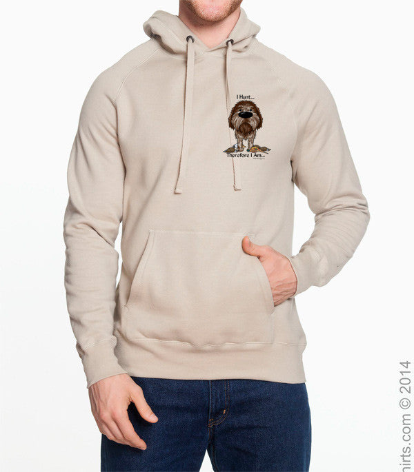 I Hunt Wirehaired Pointing Griffon Hoodie Sweatshirt - More Styles and Colors Available