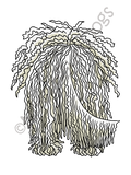 Big Nose Komondor Dark Colored T-shirts