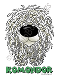 Big Nose Komondor Light Colored T-shirts
