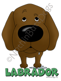 Big Nose Labrador Retriever Light Colored T-shirts
