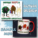 Labrador Retriever butt christmas coffee mug