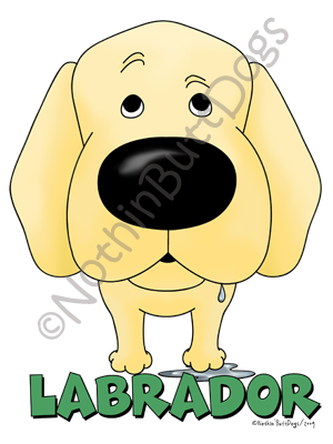 Big Nose Labrador Retriever Dark Colored T-shirts