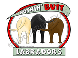 Nothin' Butt Labradors Light Colored T-shirts