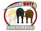 Nothin' Butt Labradors Dark Colored T-shirts