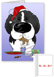 Landseer Santa's Cookies Greeting Cards