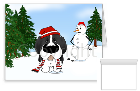 Newfoundland Winter Scene Greeting Cards