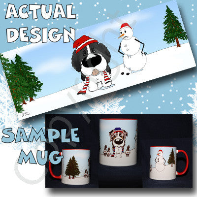Newfoundland Snowman 11 oz Red Mug