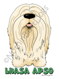 Big Nose Lhasa Apso Dark Colored T-shirts