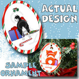 Chihuahua Santa Hat Christmas Ornament