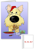 Wheaten Cairn Terrier Santa's Cookies Greeting Cards
