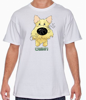 Big Nose Light Cairn Terrier T-shirts - More Colors Available