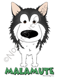 Big Nose Alaskan Malamute Dark Colored T-shirts