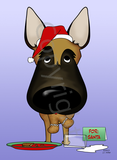 Belgian Malinois Santa's Cookies Greeting Cards