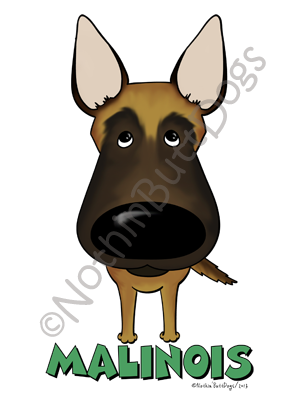 Big Nose Belgian Malinois Dark Colored T-shirts