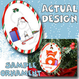 Maltese Santa Hat Christmas Ornament