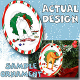 Maltese Wreath Christmas Ornament