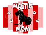 Mastiff Mom Pink Stripe Shirts - More Styles and Colors Available