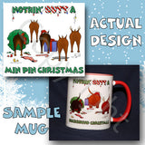 Miniature Pinscher butt christmas coffee mug