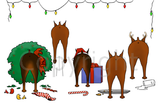 Nothin' Butt A Miniature Pinscher Christmas Greeting Cards