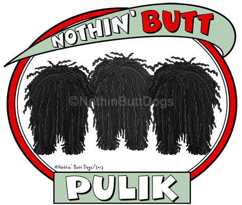 Nothin' Butt Pulik 17oz Latte Mug