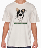 Big Nose Border Collie Natural T-shirt