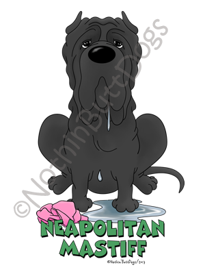 Big Nose Neapolitan Mastiff Light Colored Long Sleeve T-shirts