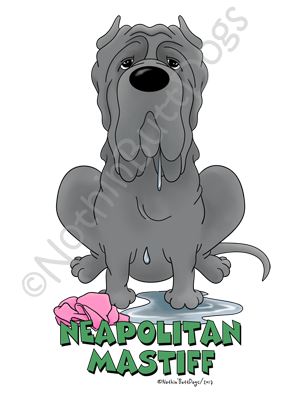 Big Nose Neapolitan Mastiff Light Colored T Shirts Nothin Butt Dogs