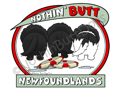 Nothin' Butt Newfoundlands Light Colored T-shirts