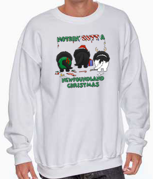 Nothin' Butt A Newfoundland Christmas Sweatshirt