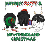 Nothin' Butt A Newfoundland Christmas Shirts - More Styles and Colors Available