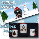 newfie winter snowman mug
