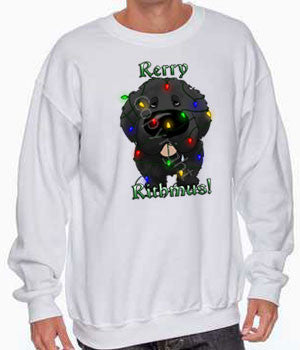 newfie christmas lights sweatshirt