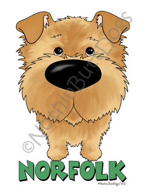 Big Nose Norfolk Terrier Light Colored T-shirts