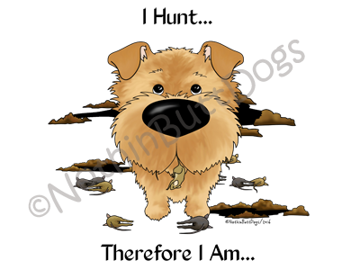 Norfolk Terrier I Hunt....Light Colored T-shirts